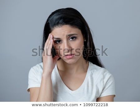 People with sad and upset facial expressions Stock photo © colematt