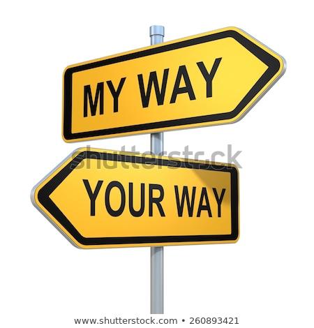 Enyém út nyilak kéz rajz nézeteltérés Stock fotó © ivelin