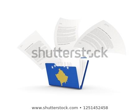 Dobrador bandeira Kosovo arquivos isolado branco Foto stock © MikhailMishchenko