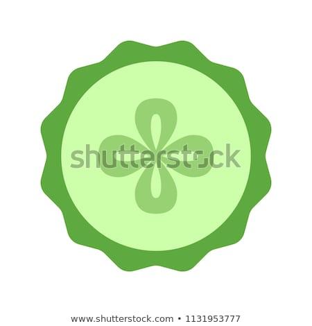 Cetriolo fetta icona primo piano conservato Foto d'archivio © robuart