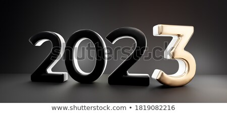 2023 3d-illustration colorful bold letters stock photo © Wetzkaz