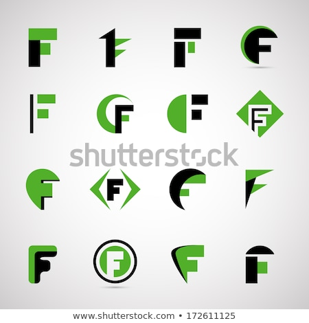 f logo letter green black symbol element stock photo © blaskorizov
