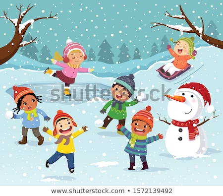 Snowball Fights and Merry Christmas Characters Stock photo © robuart