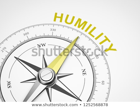Compass on White Background, Humility Concept Stock photo © make