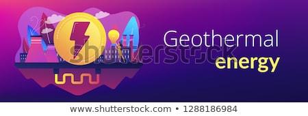 Geothermal energy concept banner header. Stock photo © RAStudio