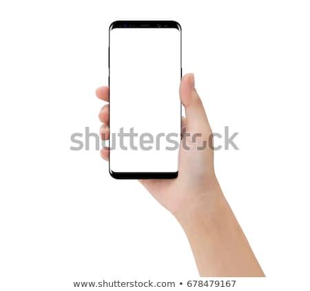 Mulher novo comprimido mãos internet Foto stock © OleksandrO