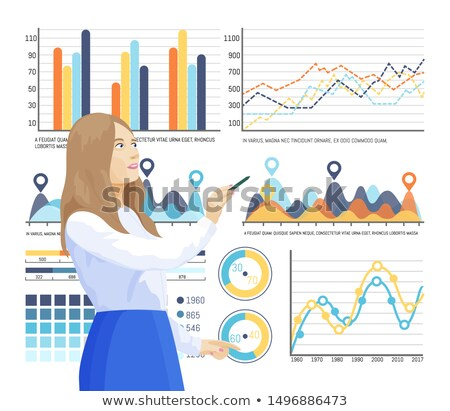 Infographics and Info Structure, Woman Thinking Stock photo © robuart