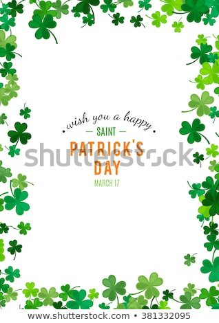 Clovers Frame Isolated Stock photo © adamson