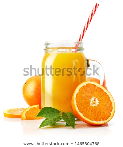 Glass jar of raw organic fresh orange juice Stock photo © DenisMArt