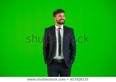 画像 · 小さな · ビジネスマン · 立って · 魅力的な · ブルネット - ストックフォト © feedough