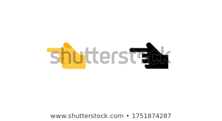 Wijzend emoticon gelukkig vinger naar Stockfoto © yayayoyo