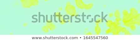 easter sale illustration with color painted egg spring flower and rabbit ears on green background stock photo © articular