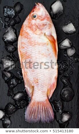 シーフード レストラン メニュー 魚 新鮮な ストックフォト © robuart