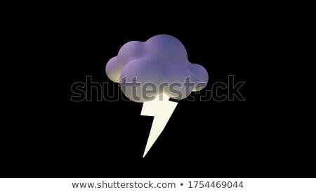 Nuages foudre icône couleur design lumière Photo stock © angelp