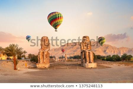 Egipt luxor dwa kamień faraon niebo Zdjęcia stock © Givaga