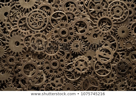 Brass cog wheels, steampunk background Stock photo © Melnyk