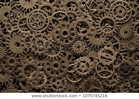 Brass cog wheels, steampunk background ストックフォト © Melnyk