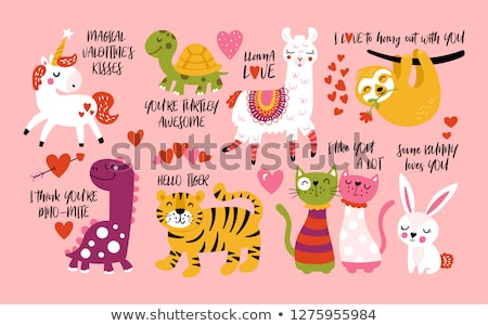 vector set of valentine cartoon Foto stock © olllikeballoon