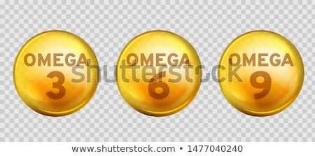 Omega Fatty Acid, EPA, DHA Vector Drops Set Photo stock © pikepicture