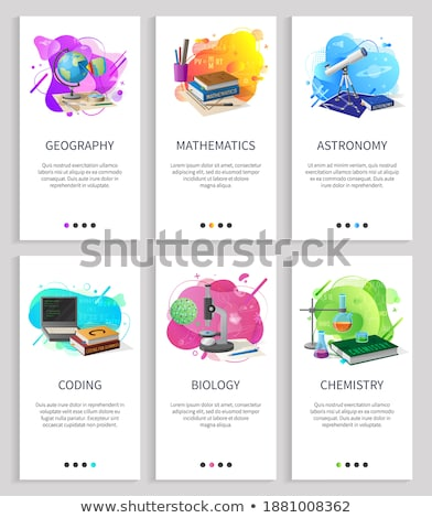 Astronomy Subject, School Discipline Studies Page Stock photo © robuart