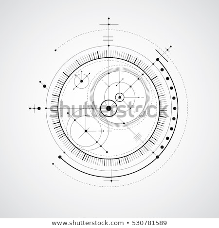 Abstract background of engineering drawing circles. Technological wallpaper made with circles and li Stock photo © kyryloff
