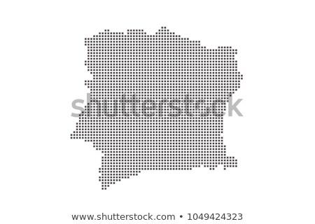 Negro medios tonos círculo punteado mapa del mundo mapa Foto stock © kyryloff