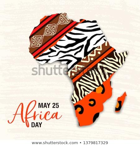 Africa giorno carta tribali arte african Foto d'archivio © cienpies