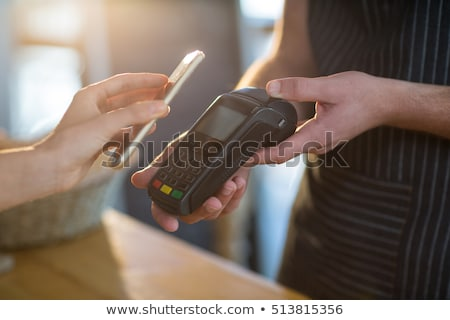 Paying by smartphone Stock photo © pressmaster