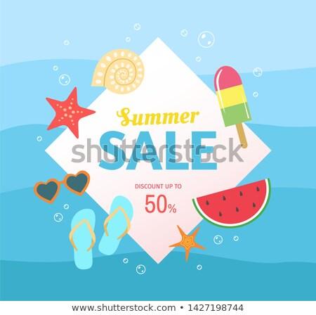 summer sale watermelon star vector illustration stock photo © robuart