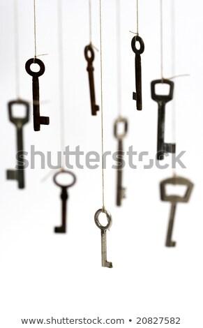 Különböző kulcsok fonal öreg akasztás csetepaté Stock fotó © AndreyPopov
