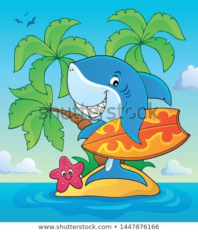 surfista · Cartoon · carácter · gradiente · utilizado - foto stock © clairev