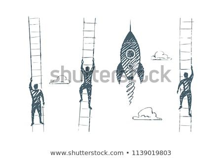 человека впереди изолированный иллюстрация бизнесмен документы Сток-фото © tiKkraf69
