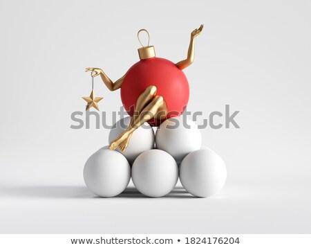 pile of balls one red 3d-illustration background Stock photo © Wetzkaz
