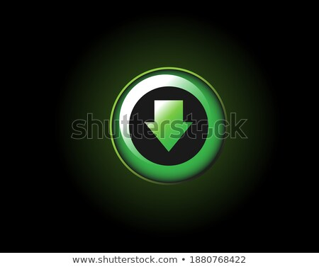 Colorful Shiny round button with Down arrow mark Stock photo © Blue_daemon