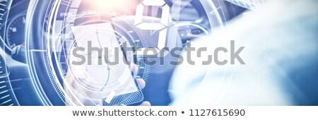 Kapcsolat interfész férfi autó digitális kompozit otthon Stock fotó © wavebreak_media
