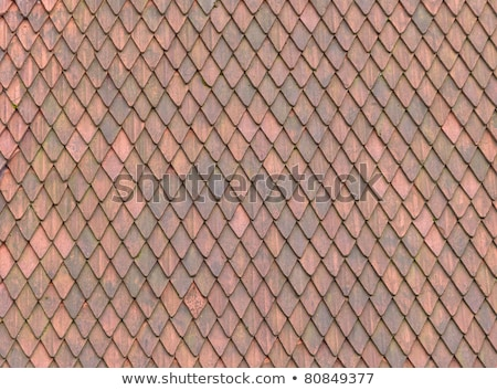 Roof Tile texture material of european medieval building stock photo © DragonEye