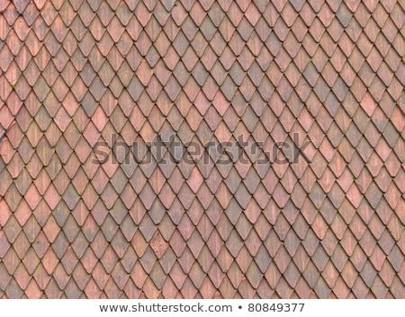 Telhado telha textura materialismo europeu medieval Foto stock © DragonEye