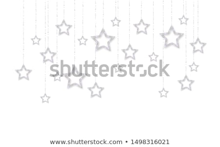 Silver handing shiny glitter glowing star isolated on white background. Vector illustration stock photo © olehsvetiukha