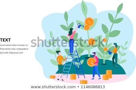 Inwestycje starszy ludzi oszczędności fundusz Zdjęcia stock © RAStudio
