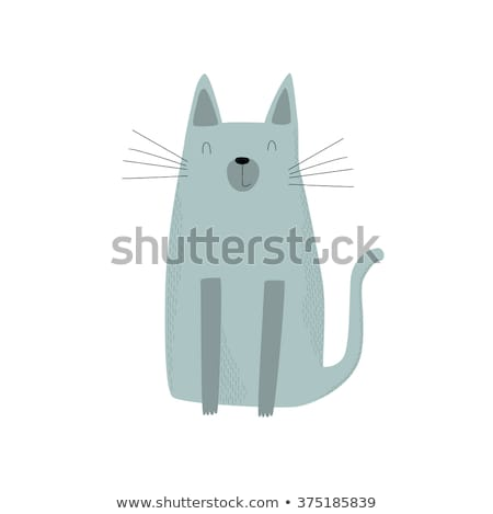 Cute chat thon peuvent personnage Photo stock © amaomam