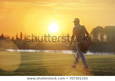 Stockfoto: Golfer · lopen · mannelijke · zak