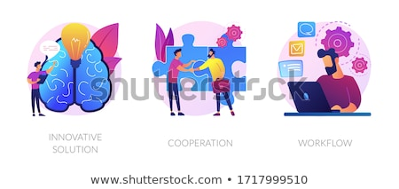 Effective coworking vector concept metaphor Stock photo © RAStudio