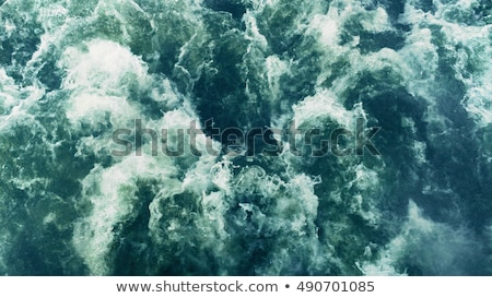 Stock photo: Speed boat with wake stream