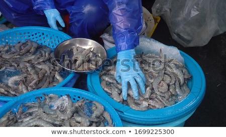 raw meat on the vietnamese market stock photo © galitskaya
