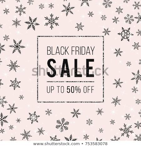 stylish black friday sale sparkles background design stock photo © sarts