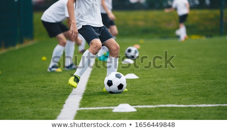 Soccer Football Training Session for Youth Junior Team Stock photo © matimix