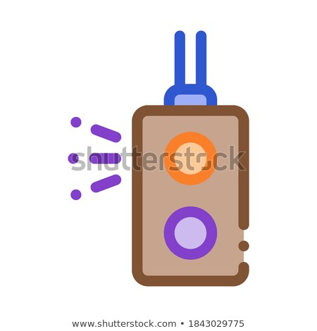 Colour Light Signal Metallurgical Icon Vector Illustration Stock photo © pikepicture