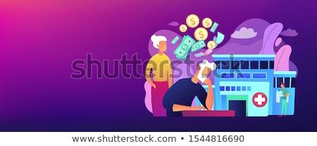 Egészségügy kiadások szalag fejléc társadalombiztosítás egészségbiztosítás Stock fotó © RAStudio