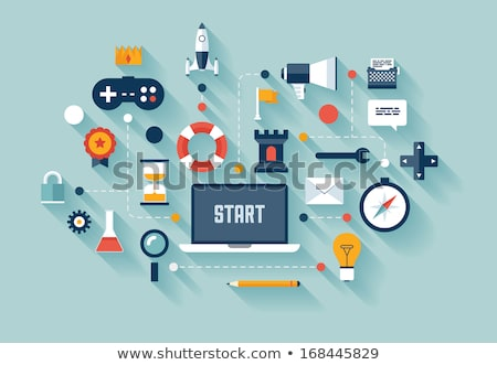 Strategy online games concept vector illustration. Stock photo © RAStudio