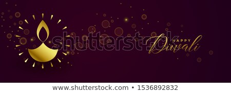 awesome happy diwali festival golden banner design Stock photo © SArts